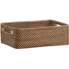 Sedona Low Open Tote in Baskets | Crate and Barrel.