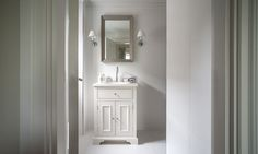 Chichester undermount washstand and Brunswick wall light, bathroom ideas