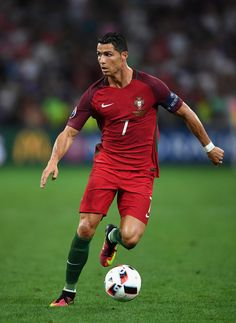 Cristiano Ronaldo Photos Photos - Cristiano Ronaldo of Portugal in action during the UEFA EURO 2016 quarter final match between Poland and Portugal at Stade Velodrome on June 30, 2016 in Marseille, France. - Poland v Portugal - Quarter Final: UEFA Euro 2016