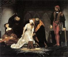 The Execution of Lady Jane Grey by Paul Delaroche, 1833
