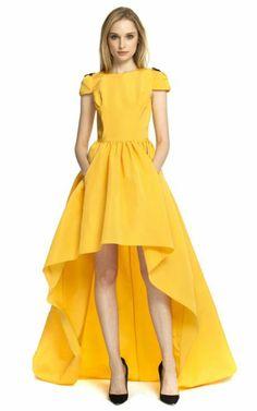 abendkleider kurz und lang in gelb
