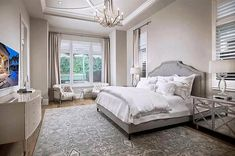 Master bedroom with tufted armchairs sitting area Lounge Sofa, Sofa Chair, Sofa Set, Luxurious Bedrooms, Luxury Bedrooms, Bedroom With Sitting Area, Leather Club Chairs, White Sofas, Vintage Sofa