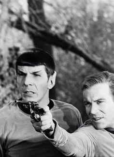 Mr. Spock and James T. Kirk