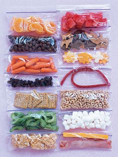 Healthy Snacks.  I need to start doing this again.  Portioning out lunch foods in snack bags for lunches.  If i do it, it makes the same old things look fresh again in my kids minds.  Cereal, mix ins with mini marshmallows, etc.