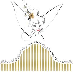 Disney Fairies Tinkerbell Headboard Peel and Stick Giant Wall Decal