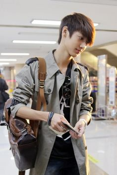Kwangmin. I still can't really differentiate him and Youngmin unless their hair colors are different.