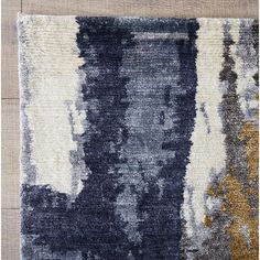 Found it at Wayfair - Loma Prieta Hand-Knotted Ivory/Blue Area Rug