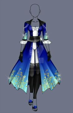 (closed) Auction Adopt - Highness Outfit 2 by CherrysDesigns on DeviantArt Dress Drawing, Drawing Clothes, Outfit Drawings, Dress Sketches, Fashion Sketches, Anime Outfits, Cool Outfits, Anime Dress, Fantasy Dress