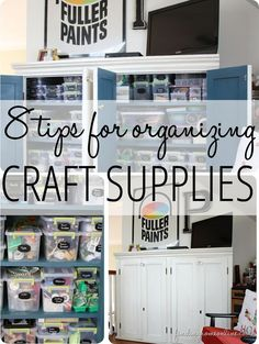 8 Tips for Organizing Craft Supplies... smart ideas for craft organization!