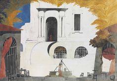 Edward Burra (British, 1905-1976), Set design for 'Don Quixote', 1950. Pencil, watercolour and gouache, 20¾ x 30¼ in.