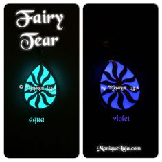 My lovely fairy tear glow necklace! they are available in violet too!