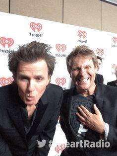 John Taylor & Roger Taylor clowning around at the iHeartRadio Festival - Duran Duran Vine!