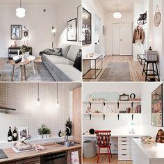 In dit Zweedse appartement kom je probleemloos een koude winter door. Doordat er veel gebruik van hout is gemaakt, bijvoorbeeld voor de vloeren en de keuken, hangt er een warme en gezellige sfeer. Bekijk de foto's en laat je inspireren!