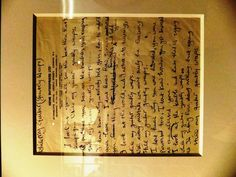 "handwritten lyrics to ""While my guitar gently weeps"" by george harrison, grammy museum special exhibition, los angeles, ca"