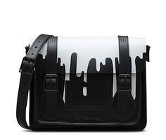 "11"" Leather satchel BLACK AB005012"