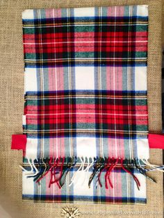 How To Make A Pillow Case From A Scarf, Plaid Scarf Pillow Case DIY, Make a pillow from a scarf, Christmas Pillow DIY, Celebrating Everyday Life with Jennifer Carroll Sewing Pillows, Diy Pillows, No Sew Pillow Covers, Pillow Cases, Christmas Pillow, Christmas Decor, Plaid Scarf, Sewing Projects, Diy Crafts