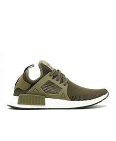 pick up 7c5b9 749f0 Chaussure Adidas NMD XR1 PK Primeknit Olive Cargo Noyau Noir Vintage  Blanche S32217