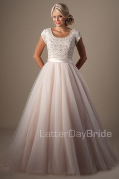 Modest Wedding Dresses : Arquette. Available at Latterday Bride. Go to our website to see more. latterdaybride.com