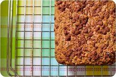 Oil-Free Zucchini Walnut Raisin Loaf with Cinnamon Streusel