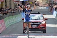 Giro d'Italia 2016 Stage 8: Gianluca BRAMBILLA (ETIXX - QUICK STEP) wins by over 1 minute on the next rider on the road and 1:41 on the GC contenders to move into the race lead