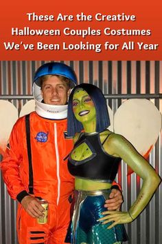 It's the spookiest time of the year, and we know you're scrambling for a costume idea. And if you are hoping to share the fun and excitement with a friend or a partner, you need extra creativity to truly master that plan. We've found couples costumes that really take dressing up to the next level, and we've honestly never seen anything quite like them before. Check out the best of the best, and feel free to steal! Couple Halloween Costumes, Halloween Town, Bright Line Eating Recipes, Fair Outfits, Medusa Costume, Funeral Outfit, Daily Hacks, Denim Skirt Outfits, Homecoming Mums
