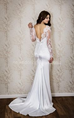 US$99.22-Sexy Long Sleeve Mermaid Satin Lace Wedding Dress With Open Back.  https://www.newadoringdress.com/sexy-bateau-neck-long-sleeve-mermaid-satin-wedding-dress-with-lace-pET_711344.html.  Free Custom-made & Free Shipping at best wedding dresses, Lace wedding dress, modest wedding dress, strapless wedding dress, backless wedding dress, wedding dress with sleeves, mermaid wedding dress, plus size wedding dress. We have great 2016 fall Wedding Dresses on sale at #NewAdoringDress.com today!