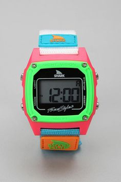 So many other cool color combos in this watch too.... Freestyle Shark Clip Watch  #UrbanOutfitters