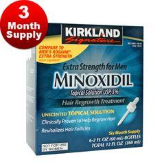 Kirkland 5% Minoxidil Solution - 3 Month Supply - Minoxidil 2 U http://www.minoxidil2u.com/shop/minoxidil/kirkland-5-minoxidil-solution-3-month-supply/