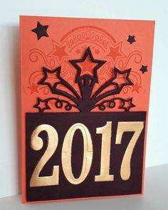 carte de vœux, Stampin'Up, fête endiablée, fannystamp31