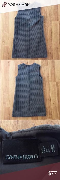 Cynthia Rowley Gray Braided Sweater Dress Size S ⚜️I love receiving offers through the offer button!⚜️ Good condition, as seen in pictures! Fast same or next day shipping!📨 Open to offers but I don't negotiate in the comments so please use the offer button😊 length from shoulder to hem is 32 inches. Over the bust left to right it's 13 inches. Cynthia Rowley Dresses