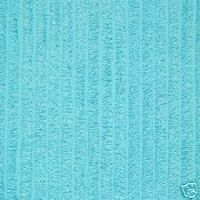 turquoise chenille for backing of blanket