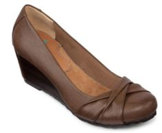 """Yuu """"Brynn"""" Wedge Pumps  • approximately 1¾"""" wedge heel  • pleat detailing on toe • textile lining • synthetic sole"""