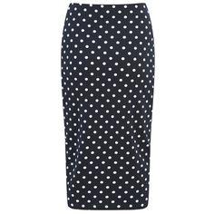 The Fifth Women's Hey Blondie Polka Dot Skirt - Navy: Image 31