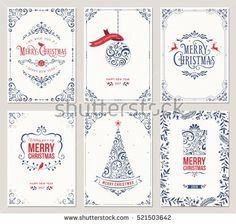 Ornate vertical winter holidays greeting cards with New Year tree, gift box, Christmas ornaments and typographic design. Cool Christmas Trees, Merry Christmas And Happy New Year, Christmas Balls, Vintage Christmas, Christmas Ornaments, Vector Christmas, Ball Ornaments, Christmas Holiday, Holiday Greeting Cards