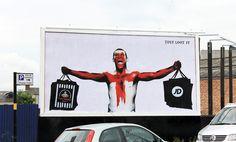 JUST LOOT IT.    Artist - Bill Posters // Site specific install, Birmingham via BRANDALISM.ORG.UK