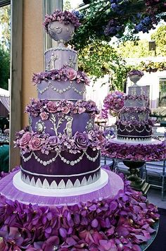 Magical Purple Wedding Cake!  Wow!