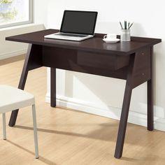 $108 Frommes Dark Brown/ Espresso Modern Home Office Desk - Overstock Shopping - Great Deals on Baxton Studio Desks