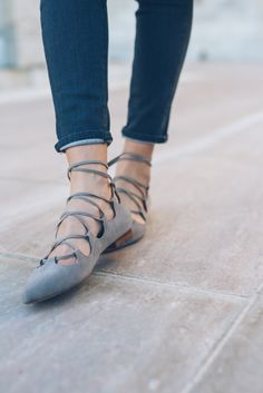 Anthropologie Lace up flats