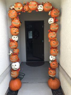Here it is during the day. Haunted Halloween, Halloween House, Fall Halloween, Samhain, Porch Decorating, Halloween Decorations, Projects To Try, Outdoors, Wedding