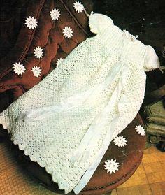 Baby Christening Robe Crochet Pattern. PDF by KrohshayAndSuch