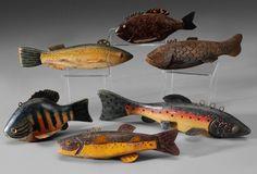 Six Fish Decoys