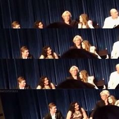 Outtake from the lately live center... Ross spoils that they got married