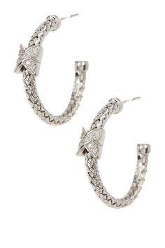 Love these Meshmerise Diamond & Braided Mesh Hoop Earrings