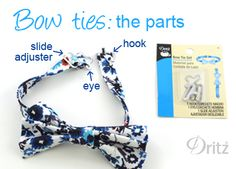 Sewing Tutorial: How to Make Bow Ties & Suspenders