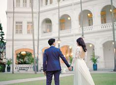 Koh Pei Li, 31, and Symond Lim, 39, had a beautiful, rustic celebration. #wedding #weddings #brides #bridal @raffleshotel #halia #rustic #elegant #colonial