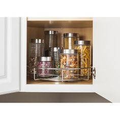18 chrome single shelf upper corner wall cabinet lazy susan rotates rh pinterest com