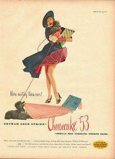 1950's Vintage ad for GOTHAM GOLD STRIPE~Cheesecake'53 Stockings`Sexy