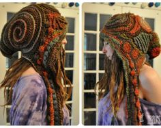 The Funk Freeform Crochet Hooded Scarf // Ooak Fiber Art by OfMars