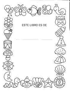 Resultado de imagen de dibujos colorear portadas cuadernos