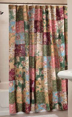 The Greenland Antique Chic Patchwork Shower Curtain adds a cozy cottage style to your naturally lit bathroom. This charming little curtain features. Shower Bath, Bed Decor, Bedspread Set, Shower Curtains And Accessories, Primitive Bathrooms, Curtains, Patchwork Curtains, Cabin Shower Curtain, Greenland Home Fashions